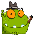 mobster frog with a hat and cigar vector image vector image