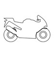 motorcycle black color path icon vector image vector image