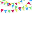 Multicolored bright buntings garlands isolated on vector image vector image