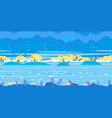 ocean floor game background flat landscape vector image vector image
