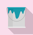 paint bucket icon flat style vector image vector image