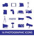 photographic icon set eps10 vector image vector image