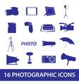 photographic icon set eps10 vector image