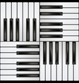 piano keyboard square seamless pattern vector image vector image