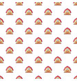 red horse barn pattern seamless vector image vector image