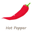 red hot pepper icon isometric style vector image vector image