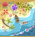relax on sea beach people on resort vector image vector image
