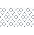 seamless chain link fence background on white vector image vector image