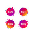 seo icons search engine optimization symbols vector image