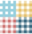 set colorful pixel gingham seamless patterns vector image