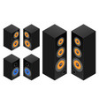 set of the audio speakers vector image vector image