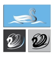 Set white and Black Swans Logo vector image vector image