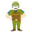 Soldier with weapon vector image
