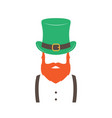 stylish irishman with ginger beard wearing hat vector image