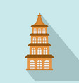 taiwan window building icon flat style vector image vector image