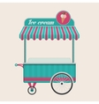 Vintage ice cream cart bus vector image vector image