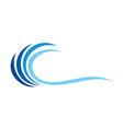 wave water abstract logo vector image