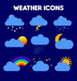 weather rain storm lightning vector image vector image