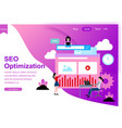 web page design for seo teamwork vector image vector image