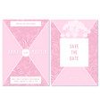 wedding invitation card with pink angelica vector image