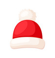 winter red hat wear christmas head accessory vector image