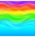 Abstract rainbow waves background vector image