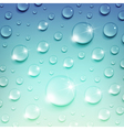Water Drops on a Blue Background vector image