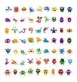 Big set of drawings custom characters vector image
