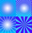 Sunray background set vector image