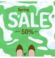 flat spring sale banner poster flyer vector image
