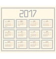 2017 year calendar templateColorful decorative vector image