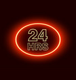 24 hours open sign red neon billboard