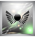 Abstract background with wings vector image