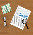 analysis of annual financial statistics vector image