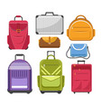 bags different type models of travel bag vector image