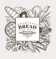 bakery hand drawn background vector image