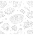baking ingredients seamless pattern homemade pie vector image