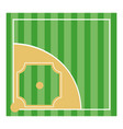baseball playing field vector image
