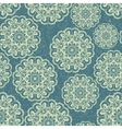 Beautiful blue seamless lace background vector image vector image