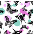 beautiful seamless butterfly kite background vector image