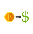 bitcoin currency exchange vector image vector image