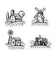 black farm and field vector image vector image