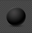 black smooth round 3d sphere vector image vector image