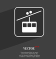 cable car line symbol Flat modern web design with vector image