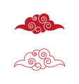 chinese cloud template icon vector image vector image
