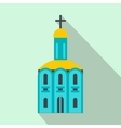 Church flat icon vector image vector image