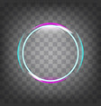 circle light effect vector image vector image
