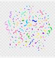 colorful bright falling confetti and ribbon vector image