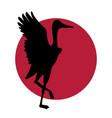 crane japanese logo vector image vector image