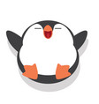 cute penguin sleeping cartoon vector image vector image